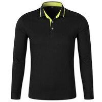 Polos Men Long Sleeve Polo Shirts Mens Turn Down Collar Breathable Pearl Cotton Golfsports Polo Shirt