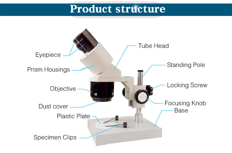 40X 80X Industrial Microscope Binocular Stereo Microscope Clock Watch Cell Phone Repairing Tool