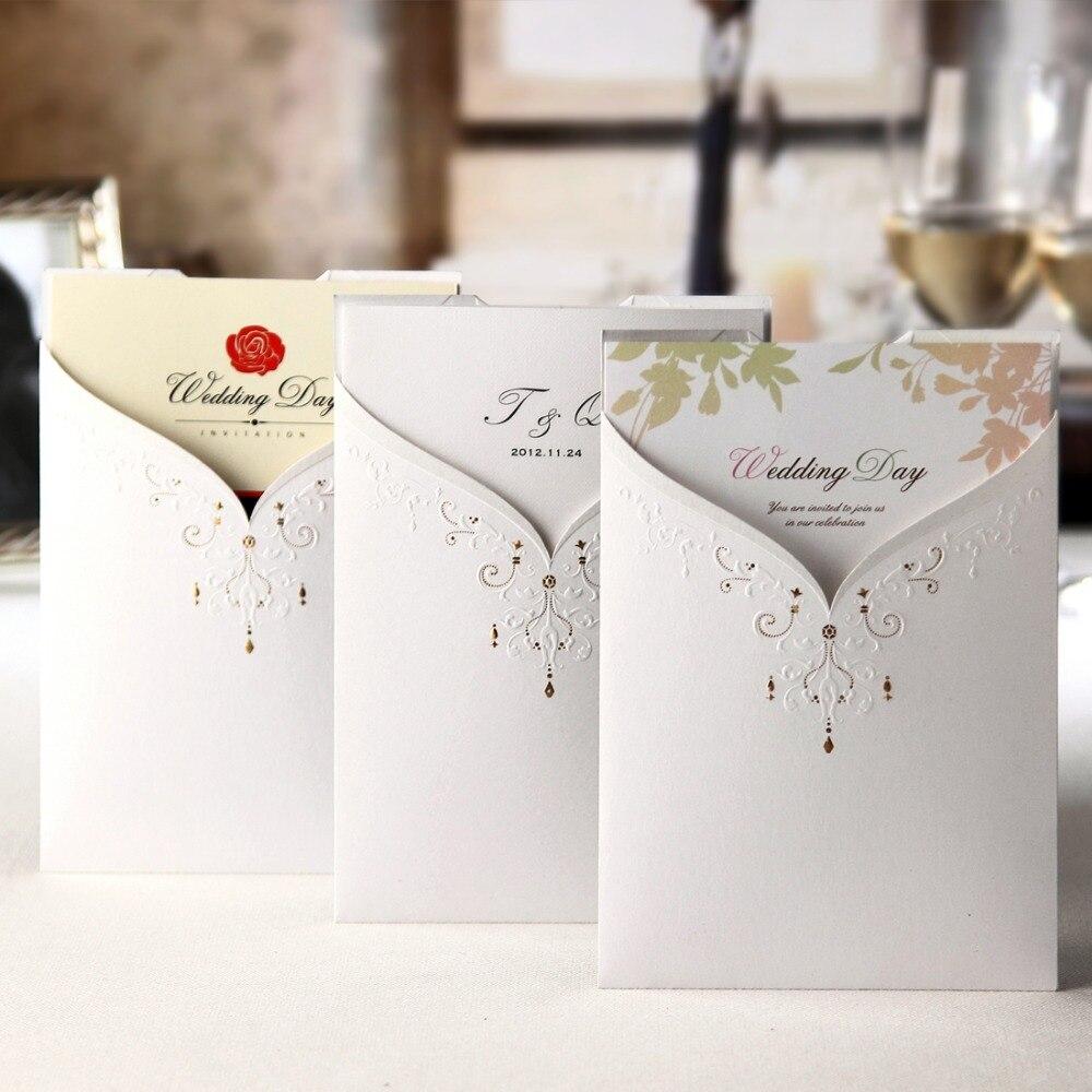Ev ve Bahçe'ten Kartlar ve Davetiyeler'de 50 adet/grup Lazer Kesim Düğün Davetiyeleri Kartları Ücretsiz Yazdırılabilir Damat ve Gelin Nişan evlilik davetiyesi Düğün Olaylar CW2011'da  Grup 2
