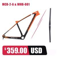 SOBATO углерода UD 27.5ER горный велосипед MTB Рамки 14.5 BB30 подседельный гарнитура Вилы Руль управления для мотоциклов клетка