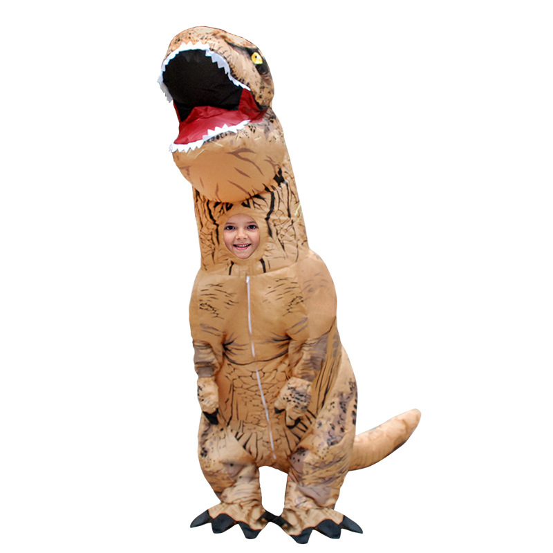 180cm Giant Inflatable Dinosaur Costumes for Kids T-rex Animal Cosplay Children Suits Halloween Party Costume Toys Airblown christmas costumes children animal cosplay rompers inflatable funny chick fancy kids baby 7 24m halloween costume disfraces