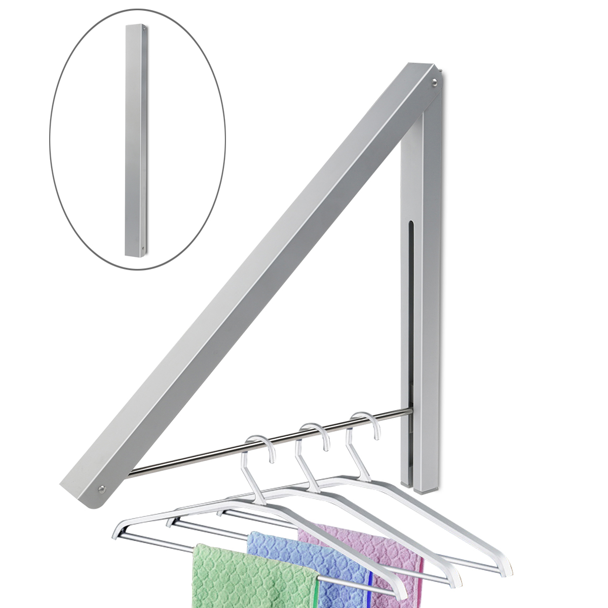 Online Get Cheap Wall Clothing Rack