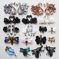 10 unids/lote ropa decorativo lentejuelas rebordear diamante negro cisne blanco libélula abeja de encaje parche de pelo diy manual de bolsa de accesorios