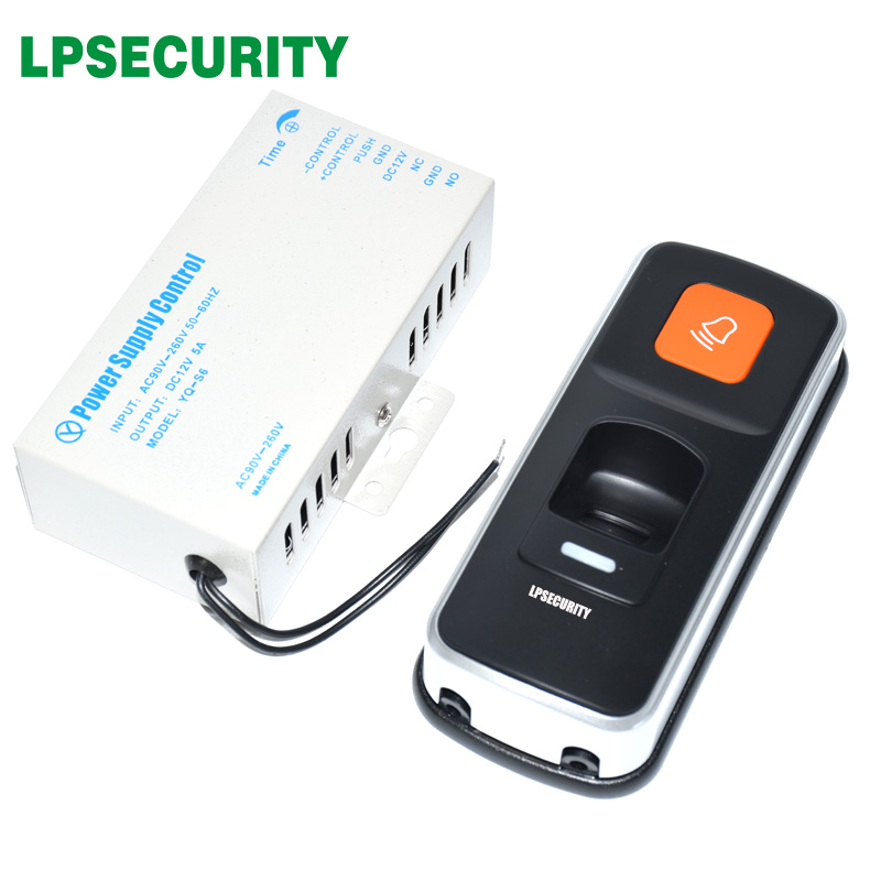 with power adapter 12V 5A 3000 users standalone RFID fingerprint access control reader access controller door LOCK openerwith power adapter 12V 5A 3000 users standalone RFID fingerprint access control reader access controller door LOCK opener