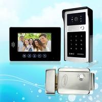 Brand New 7 Inch Color Video Intercom Door Phone System Kit With Outdoor RFID Acces Door