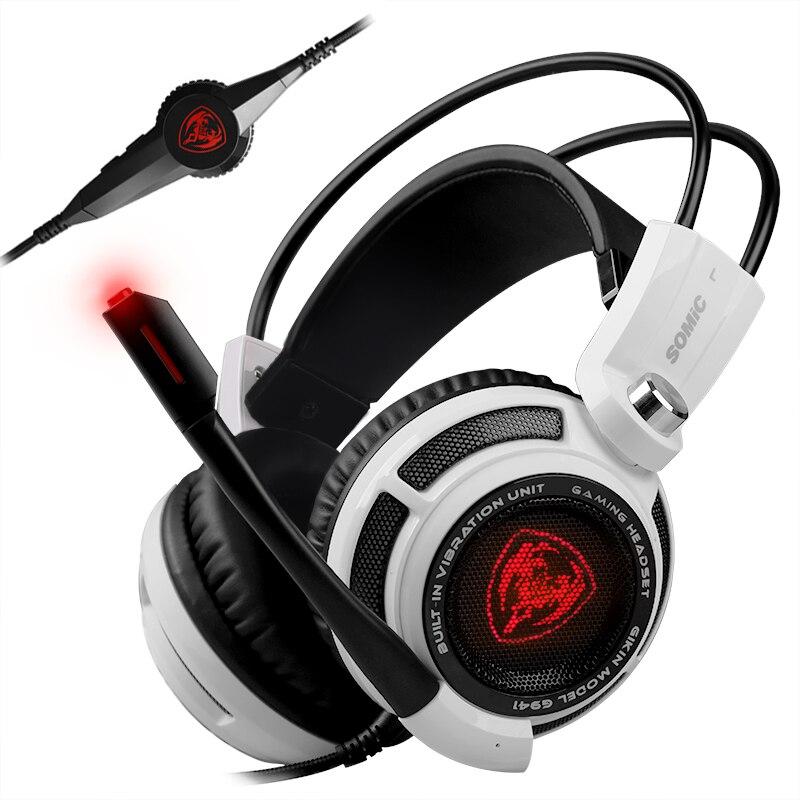 Prix pour Somic G941 Professionnel Gaming Headset 7.1 Surround Sound Vibration Fonction USB Gaming Casque pour PC Gamer