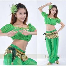 Belly Dance Tribal Harem Pants+top Egyptian Lantern Pants Glitter Sequins 11 Candy colors Optional