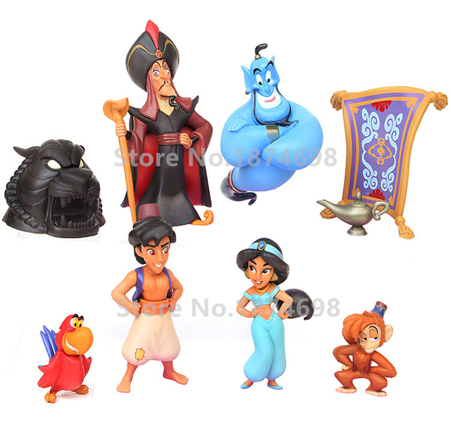 New Aladdin Figure Toy Set Aladdin Princess Jasmine Genie