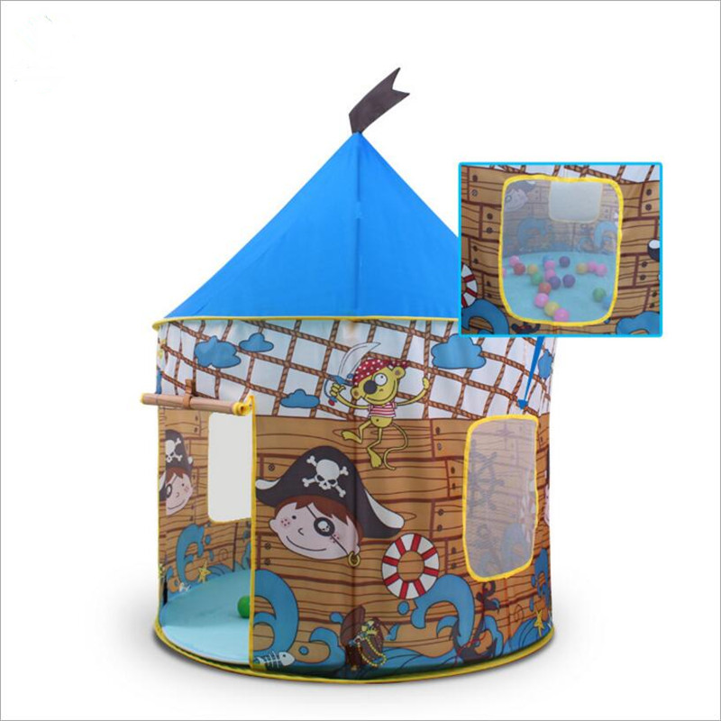 Outdoor Garden Folding Toy Tent Children Kids Play Tents Portable Pirate yurts Princess Outdoor House Kids Tent with Velvet best selling child toy tents tipi kids game house girl princess play tent teepee children house indoor outdoor toy tents