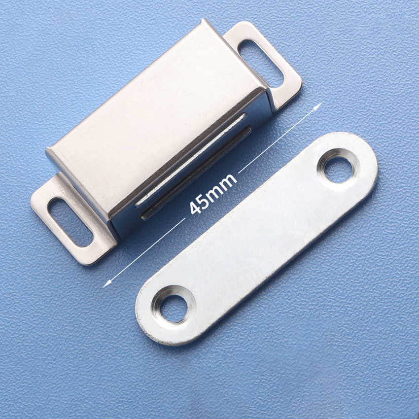 Stainless Steel Magnetic Door Catch, Heavy Duty Magnet Latch Cabinet Catches for Cabinets Shutter Closet Furniture Door
