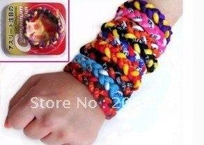 20 PCS 3 rope tornado bracelets, titanium germanium 3 wristbands rope bracelet wrist bracelet DHL/EMS/UPS