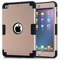 [Жесткая Броня] [металл Шифер] Всего Тела Гибридный Силиконовый & PC 3 Слоя Ударопрочный Чехол Для Apple iPad Mini 3/iPad Mini 2