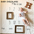 100*100CM newborn photography props baby blanket Letters numbers baby swaddle blanket newborn prop for photography