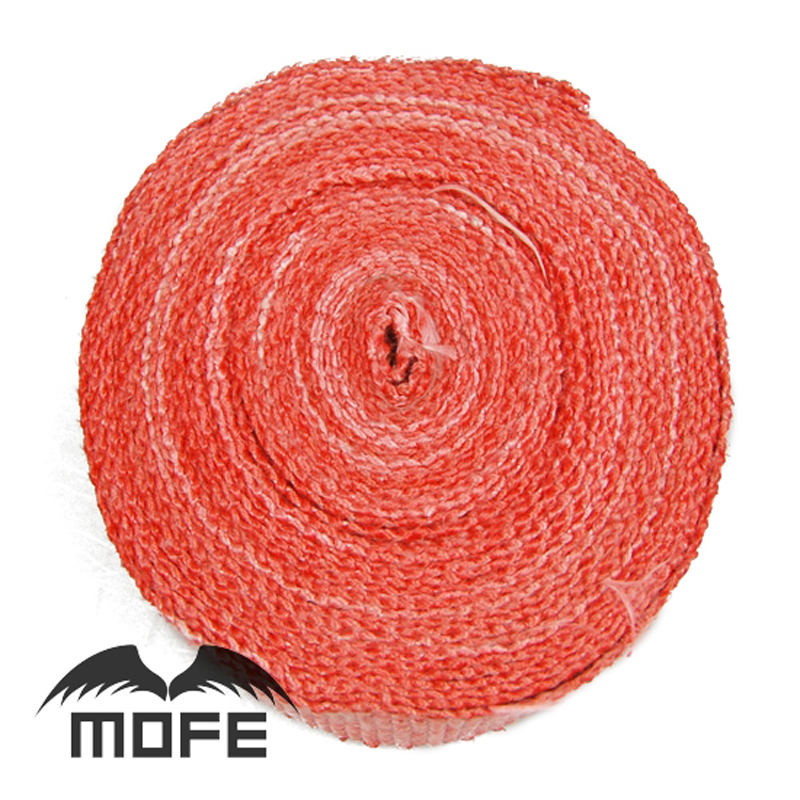 10m x5cm Mofe car motorcycle Fiberglass Exhaust pipe Heater Wrap With Stainless Steel Cable Ties Red