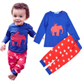 baby boy toddler outfit clothing sets kids elephant cartoon jumpsuit infant newborn sleepwear autumn bodysuit house wear