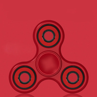 New Matte Tri-Spinner UFO Fidget Toy Plastic EDC Hand Spinner For Autism and ADHD Rotation Time Long Anti Stress Toys