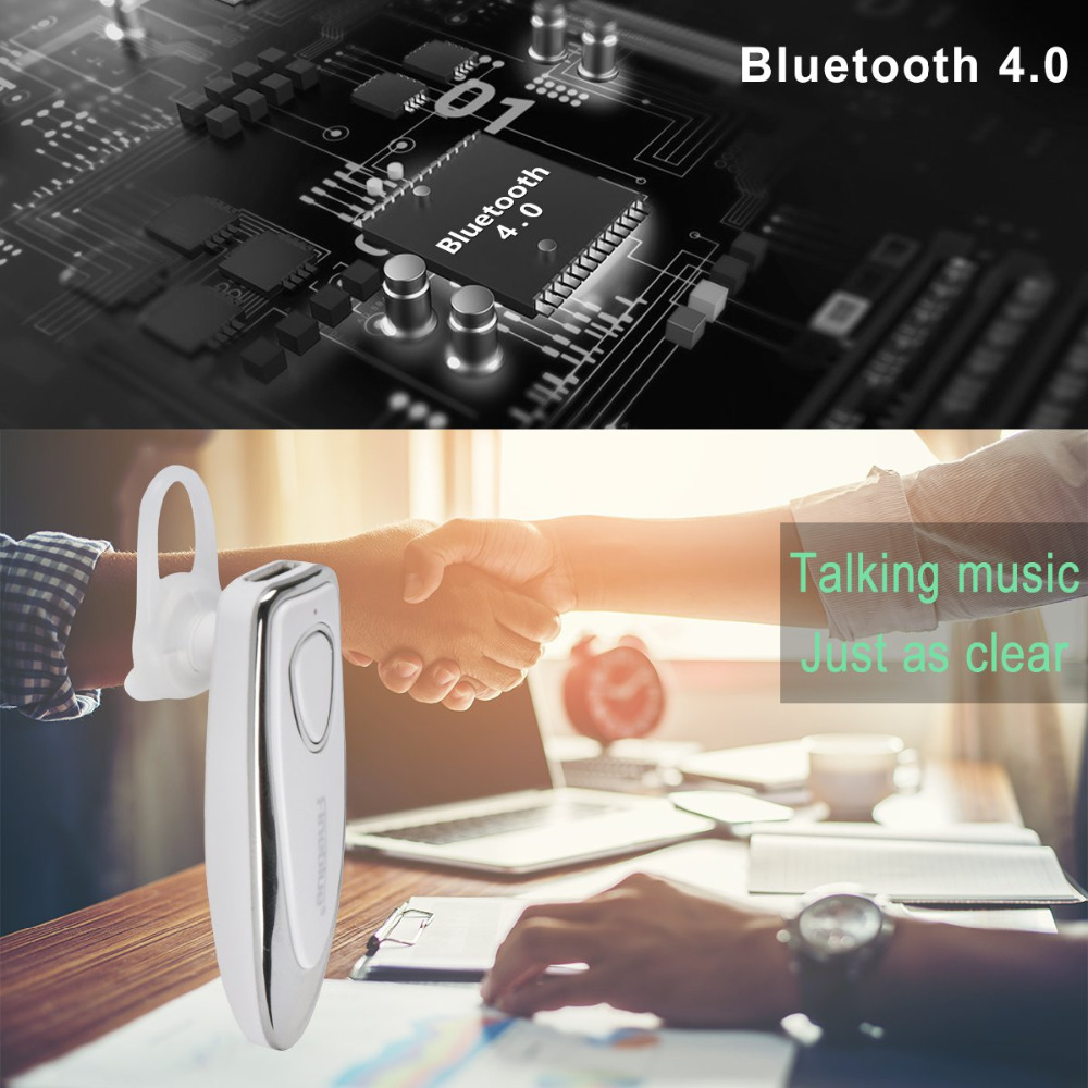 ASTROSOAR - Fineblue HF66 Bluetooth Headset, Wireless Bluetooth Earpiece V4.0 Hands-Free Earphones with Built-in Mic for Driving/Business/Office, Compatible with iPhone and Android