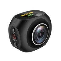4 К Двойной объектив HD 360 действие Камера Мини Wi Fi панорамный Камера HD панорама Камера 12 миллионов пикселей Sport Driving видео VR Камера