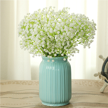 Home furnishing articles Artificial flowers Babysbreath decoration Small bonsai Chinese style flower implement Home decor vase