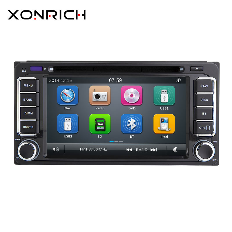 Autoradio <font><b>2</b></font> <font><b>din</b></font> GPS Car DVD Player For Toyota Land Cruiser <font><b>100</b></font> <font><b>200</b></font> Prado 120 Corolla 150 Rush RAV4 Hiace Yaris Hilux Navigation image