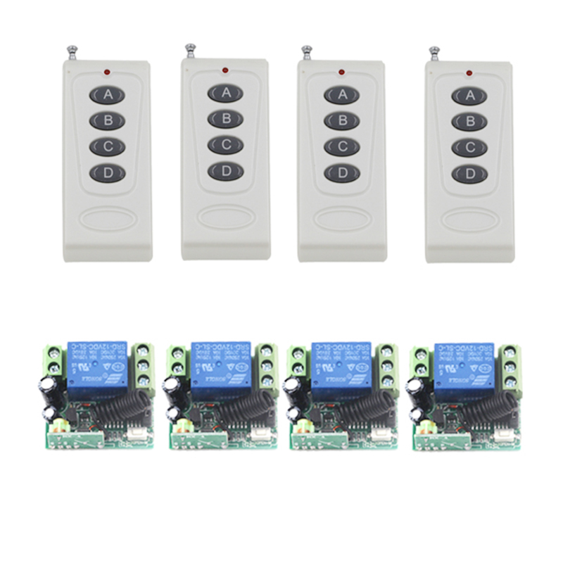 DC12V Remote Control Switch1CH 10A Relay Receiver Door Access Control Light Lamp LED Power Remote ON OFF Wireless Switch 4237 220v ac 10a relay receiver transmitter light lamp led remote control switch power wireless on off key switch lock unlock 315433