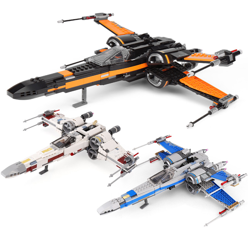Lepin 05145 05004 05029 legoings 75218 75149 75102 X-Wing Star fighter First Order Poe's X Wing Fighter Building Blocks Wars Toy