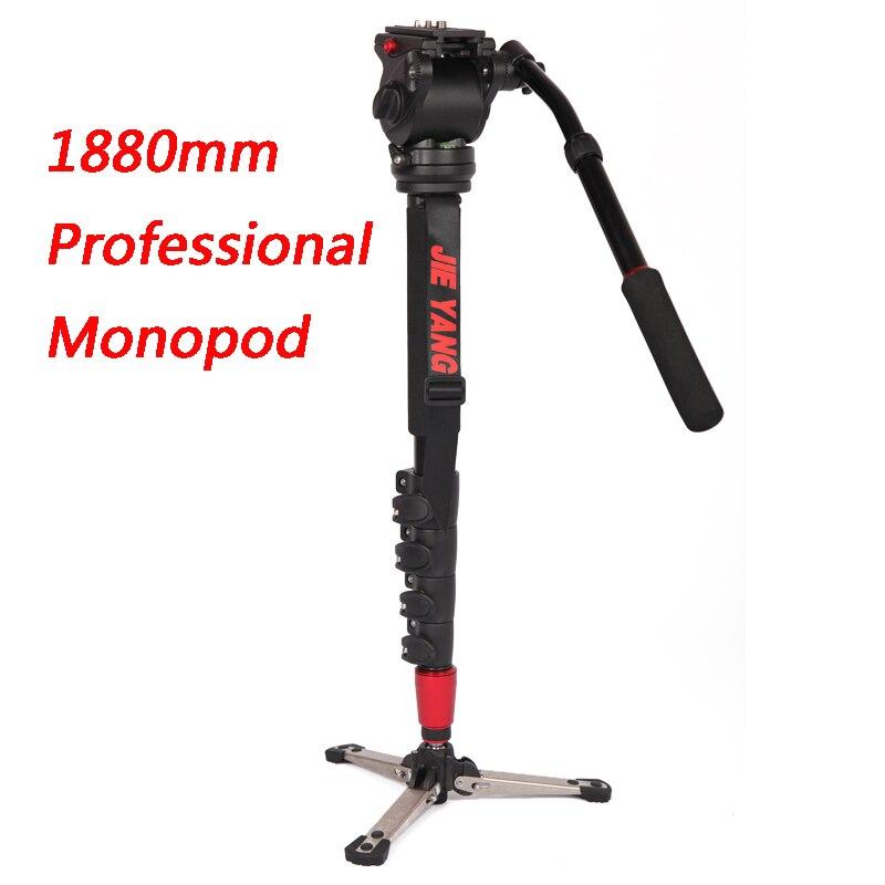 Nouveau PROGO JY0506B monopode professionnel en aluminium pour vidéo et caméra trépied tête et sac de transport JY0506 hauteur améliorée 1880mm