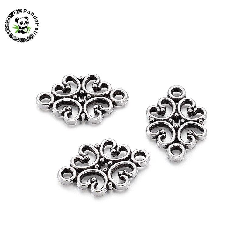 65pcs Tibetan Silver Diamond Connecteurs h2629