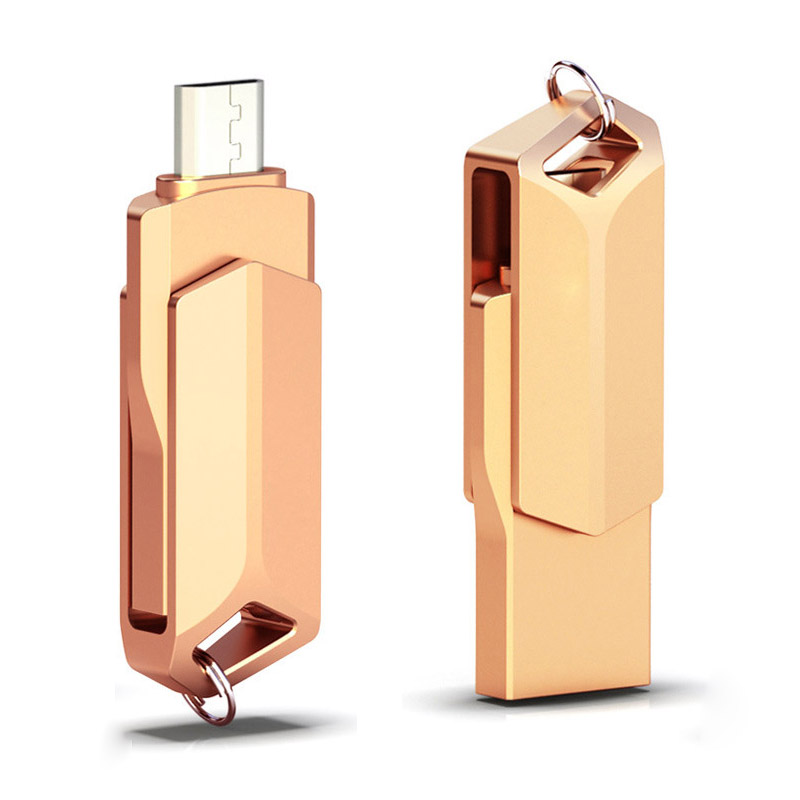Pen Drive 64GB Flash Disk 32GB USB OTG Flash Drive 3.0 For Android Phone Metal 16GB Pendrive 32GB For Micro Disk Dropshipping