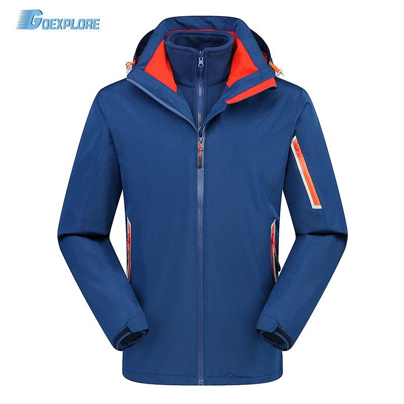 Goexplore Outdoor Sport Jackets Men Thicken Coats Waterproof Windproof windbreaker breathable Winter Hiking camping jacket Male цена 2017