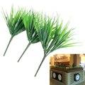 10 шт. искусственные растения зеленая трава пластиковое растение искусственная трава Настольный Декор трава для сада наружное украшение искусственные растения - фото