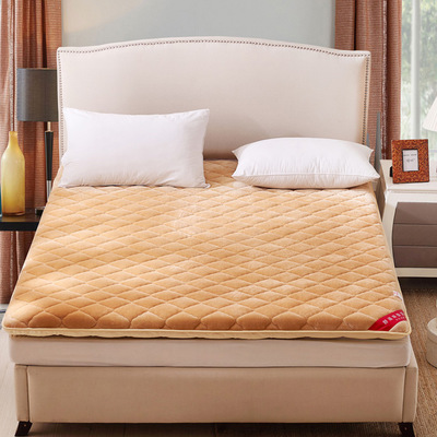 Thicker flannel mattress single double floor mat or 1.5 meters and 1.8m bed lazy warm mattress in winter enhanced version of european style metal bed iron bed double bed pastoral style student bed 1 5 meters 1 8 meters