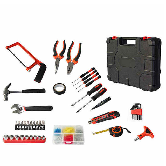 c7941ba4f9a 82pcs Combination tool accessories diagnostic multi-function hand tool box  set Spanner household multi case