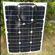 Flexible Panneau Solaire 12 v 35 w 10Pcs Solar Home System Panels 350w 220v Car Caravan Camp Motorhome Rv Off Grid Phone