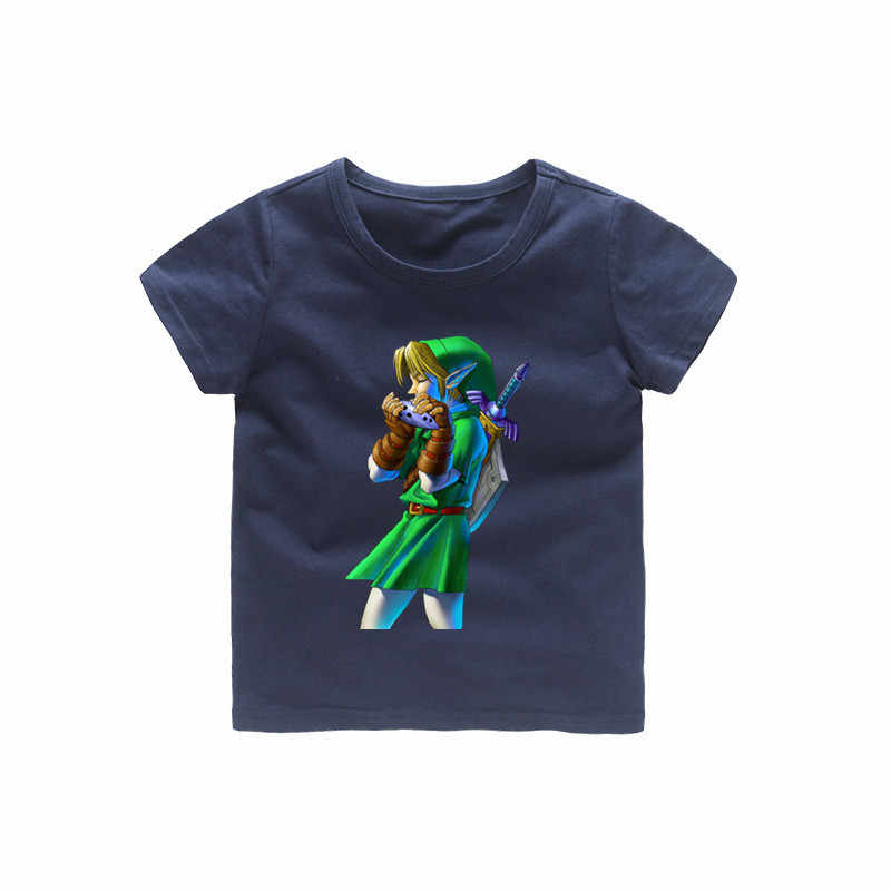 2-12 歳の子供ゼルダの伝説 Tシャツベビー少女漫画の夏トップス子供偉大なカジュアル服 b228