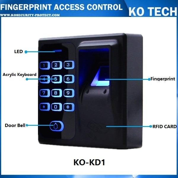 Standalone Biometric Fingerprint keypad Reader for Door lock intercom Access Control 125KHZ KD1 metal fingerprint standalone biometric fingerprint access control system for school gate hotel apartent office