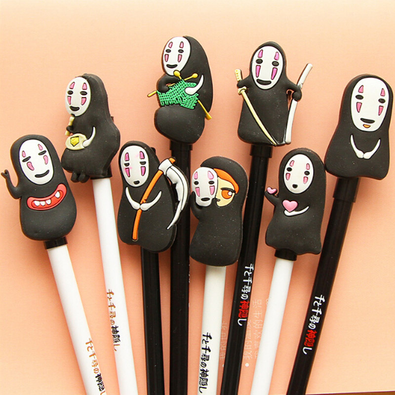 1 X cartoon gel pen Spirited Away pen canetas material escolar kawaii stationery school supplies papelaria 8 designs a spirited resistance