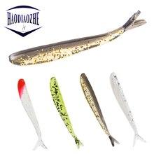 Купить с кэшбэком 12Pcs Fishing Lure Wobblers 6.5cm 1.3g  Jigging Soft Worm Shrimp Jerkbait Fish Ocean Rock Lure Bass Soft Fish Smell Soft Baits