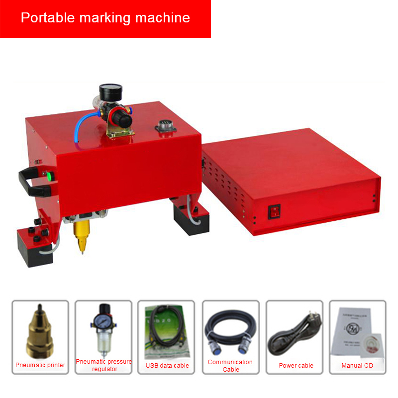 Pneumatic Dot Peen Marking Machine VIN Code Chassis Number Printer 120*40mm