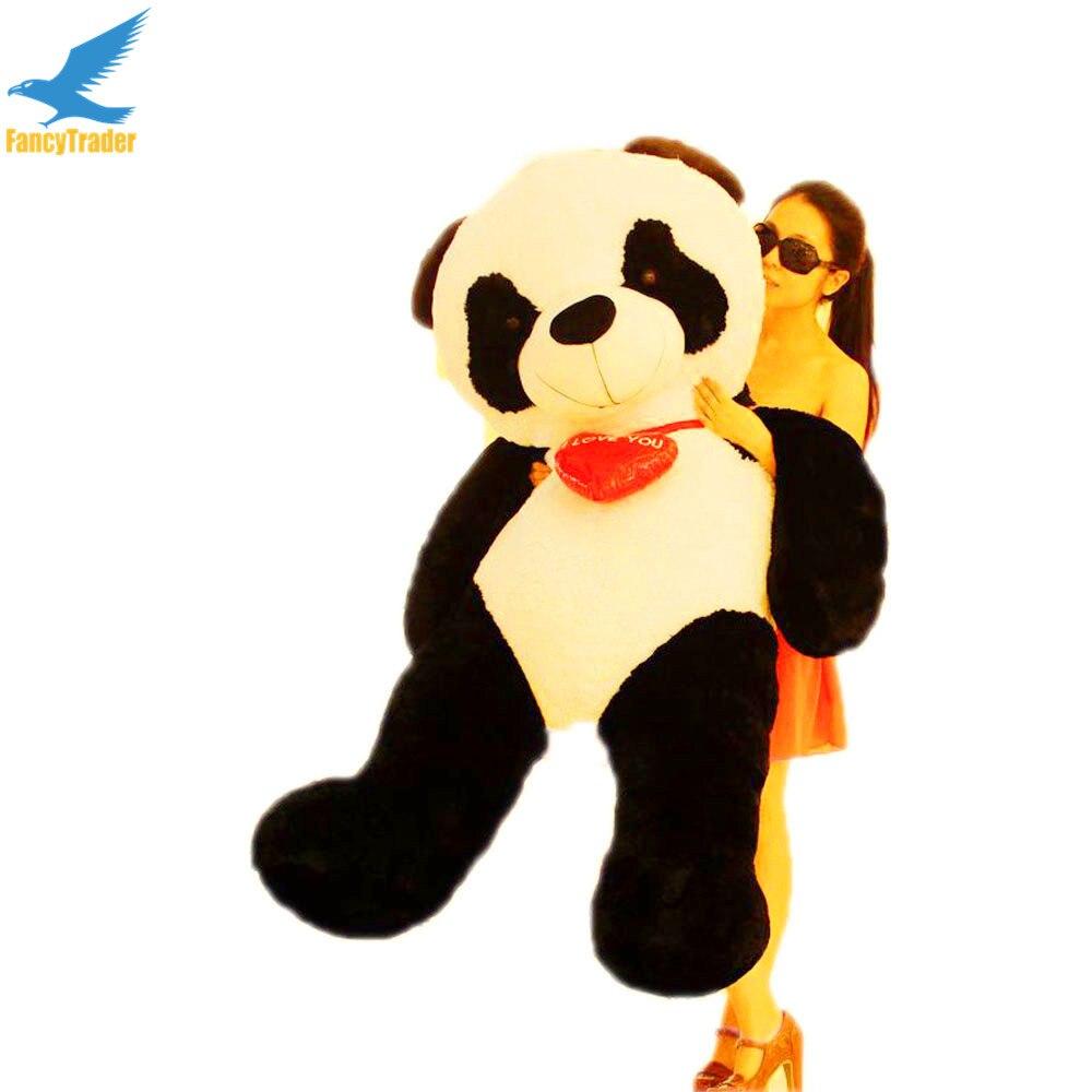 Fancytrader 63 ''Grand Énorme JUMBO En Peluche Doux En Peluche Géant Panda Jouet Grand Saint Valentin Cadeau FT90906