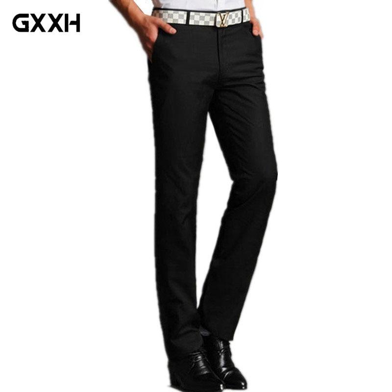 2019 Frühling Neue Männer Koreanische Beiläufige Hosen Herren New England Dünne Gerade Hosen Mode Jugend Hosen Größe 28 -33 34 35