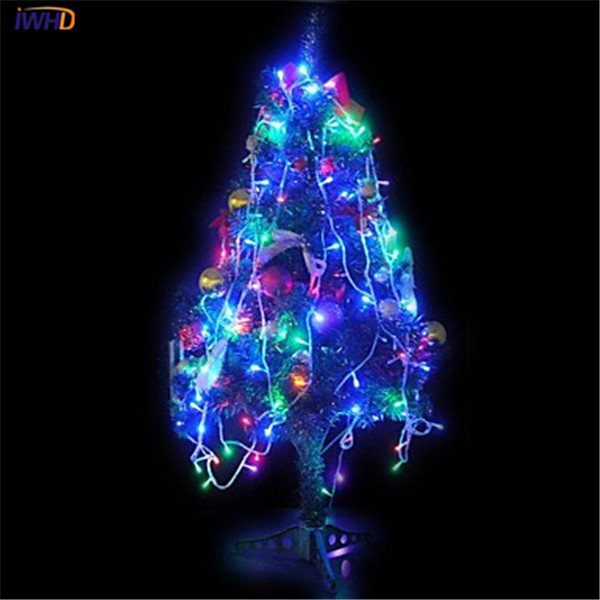 Christmas LED String Lights 10 M 100 Leds Colored Lights RGB Flashing Power Supply Outdoor Wedding Decoration Lamp String