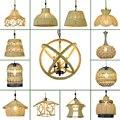 Подвесной светильник из пеньковой веревки промышленный подвесной светильник креативный винтажный домашний осветительный прибор лампочка...