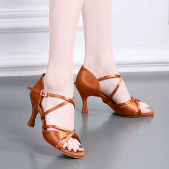 USHINE BD-GD Heel 7cm non-slip high quality top grade diamond buckle dance shoes ballroom latin dance shoes woman