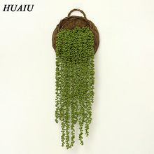 HUAIU Artificial Flower Succulent Rattan Real Touch Cactus Home Decoration Wall-mounted Green Plant Simulation  Vine
