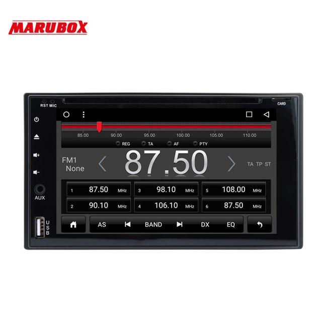 MARUBOX Universal Double Din Android 6.0.1 Multimedia Car DVD Player GPS Navigation Bluetooth Auto Radio Wifi Quad Core 6A503R16