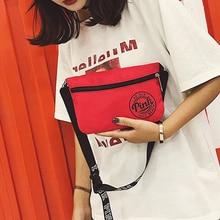 2019 korean fashion Harajuku letter print beach women men crossbody shoulder bags zipper phone money Travel handbag minimalist