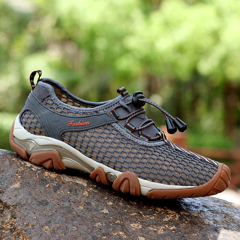 WANAYOU Summer Outdoor Hiking Shoes Breathable Air Mesh Odor-proof Hiking Sneakers Anti-slippery Comfortable Trekking Shoes