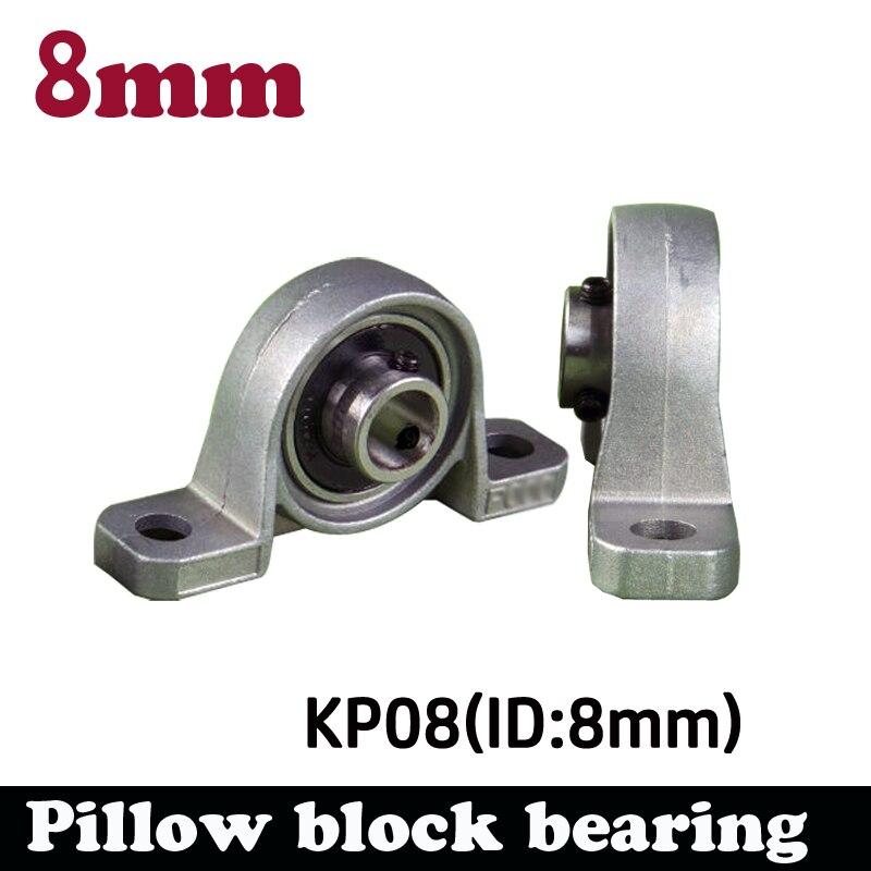 4 pcs/lot 8 mm bearing kirksite bearing insert bearing with housing KP08 pillow block bearing uc217 sphercial bearing or insert bearing 85x150x85 7mm 1 pcs
