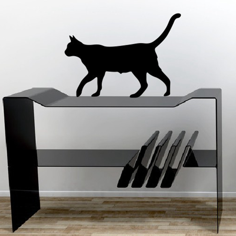 buy cute cat wall stickers fashion style wall decal interesting cartoon 39x28cm. Black Bedroom Furniture Sets. Home Design Ideas